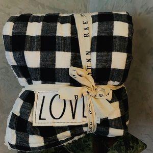 Rae Dunn LOVE blanket